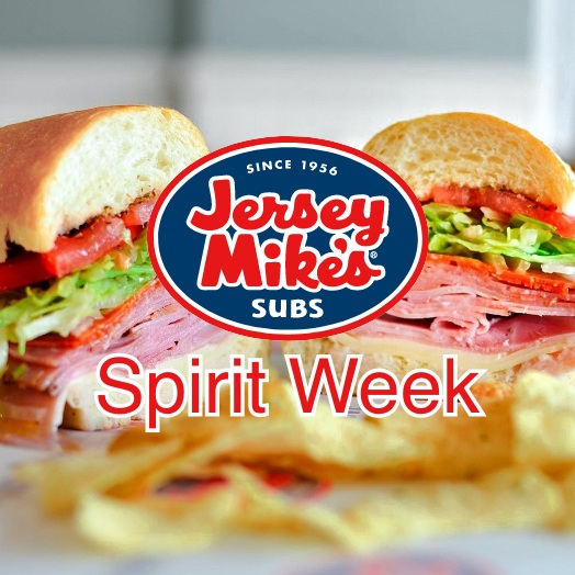 Jersey Mike's logo over a sandwich